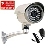 "VideoSecu Built-in 1/3"" SONY CCD Bullet Security Camera Outdoor Indoor Weatherproof Night Vision IR Infrared CCTV Camera with Free Power Supply C97"