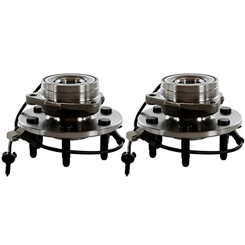Hub End - Prime Choice Auto Parts HB615038PR Two Front Wheel Hub Bearing Assembly Pair Set For Left Driver and Right Passenger