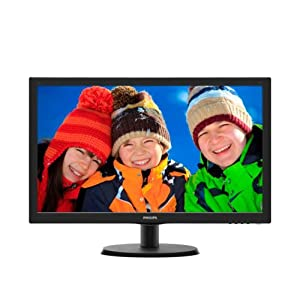 "Philips Monitor 223V5LSB Monitor 21,5"" LED, Full HD, 1920 x 1080, 250 cd/m², 5 ms, DVI, VGA, Attacco Vesa, Nero 5 spesavip"