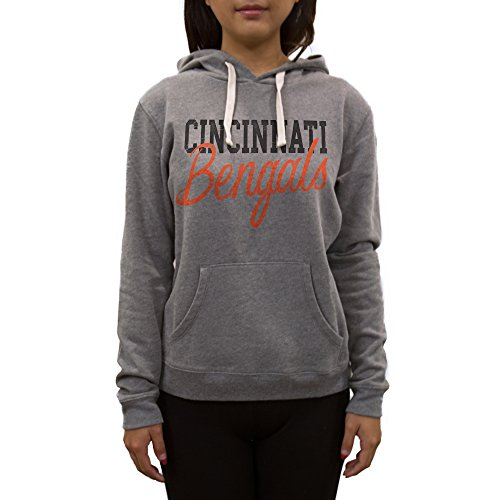 NFL Cincinnati Bengals Women's Sweatshirt, Large, Medium Heather Grey