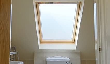 plasticfantastic velux window frosting film window etching cut to rh amazon co uk frosted bathroom windows perth frosted bathroom window home depot