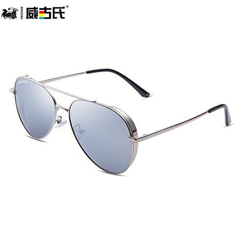 de de sol de de sol tendencias de Mercury gafas personalidad la gafas conducción Framed Silver sol hombres masculina de White gafas marco gafas púrpura nuevas polarizadas KOMNY sol dorado 70wEqw
