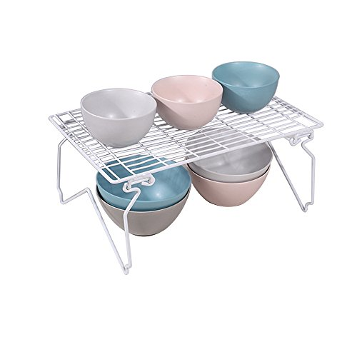 Storage Racks for Kitchen and Bathroom, Dish Drainer, Closet Accessory Shelf, White