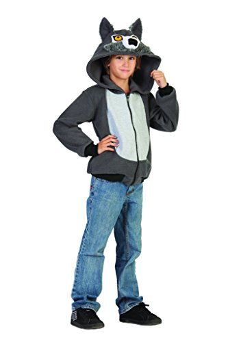 Costumes4Less  Wolf Hoodie Child Costume , Hoodies  Child S (46) , Light Gray
