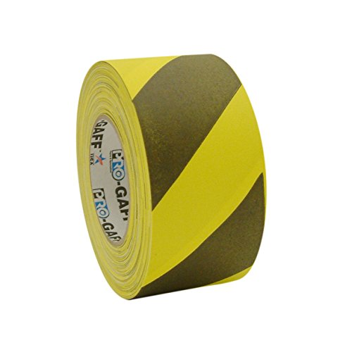 Pro Tapes Printed Pro-Gaff Gaffers Tape: 3 in. x 55 yds. (Yellow with Black stripes)