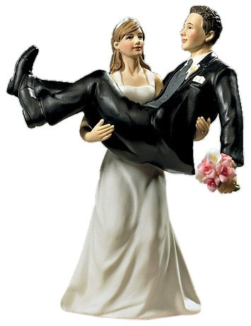(Weddingstar To Have and to Hold, Bride holding Groom Figurine)