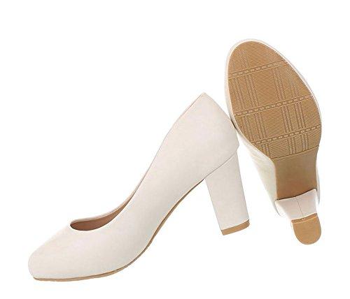 Klassische Damen Damen Schuhe Creme Pumps Schuhe O5yixdxwqn