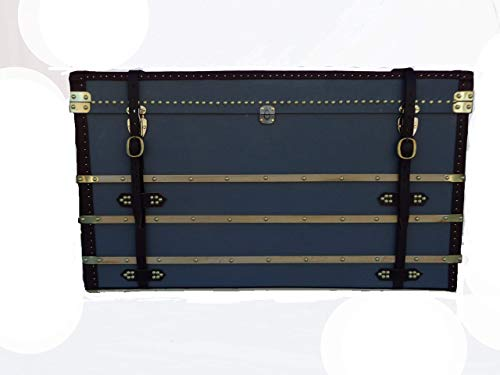 Steamer Trunk, Storage Chest,Louis Vuitton Style, Custom Built Fathers Day Trunk