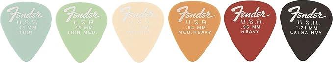 Extra Heavy Fender Mojo Grip 351 Delrin Guitar Picks 3 NEW 198-5351-406