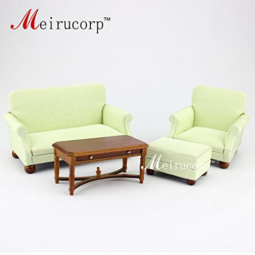 dollhouse miniature furniture Living room set 4 pcs for 1/12 scale (Miniature Set Room Living)