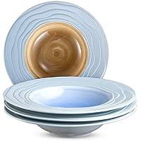 M-MAX 9 Inches Pasta Plates Soup Plates Porcelain Soup Bowls