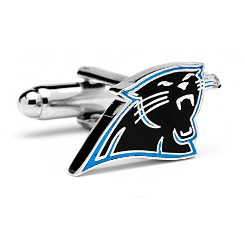 NFL Carolina Panthers Silver-Plated Team Logo Cufflinks