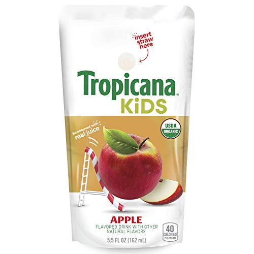 Tropicana Kids Organic Apple Juice Drink Pouches 32 Count as low as $9.99