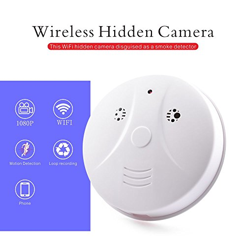 ra WiFi Spy Security Camera Motion Activated Loop Video Camera Real-time Video Remotely View by App ()