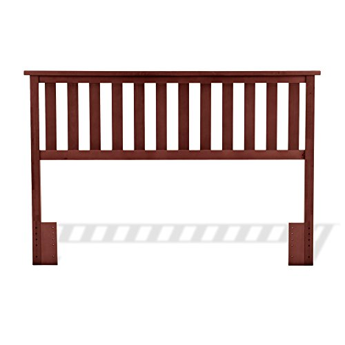 Fashion Bed Group Traditional Bed - Belmont Wooden Headboard Panel with Slatted Grill Design, Merlot Finish, Full / Queen