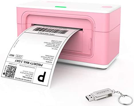 Shipping Label Printer, MUNBYN USB Pink Label Printer Maker for Shipping Packages Labels 4x6 Thermal Printer for Home Business,Amazon,Etsy,Ebay, Shopify, FedEx Labeling