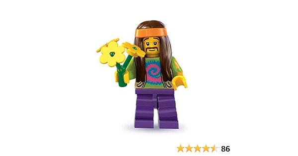 Lego Figurine Minifig série 7 Hippie power flower baba cool hippy col107 USED