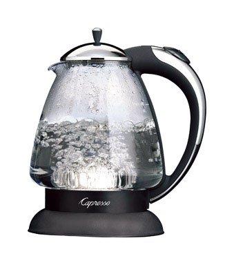 Capresso 259.03 H2O Plus Glass Water Kettle, Polished Chrome