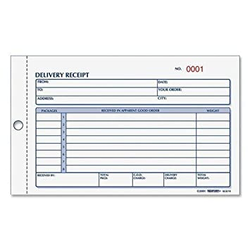 amazon com rediform delivery receipt book 3 part 4 1 4 x6 3 8