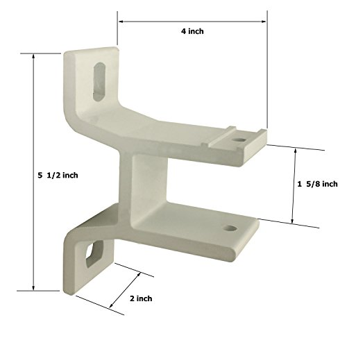 Amazon.com : ALEKO Wall Mounting Bracket For Retractable Awning   White  Compatible With 16 X 10 And 20 X 10 Foot Awnings : Garden U0026 Outdoor