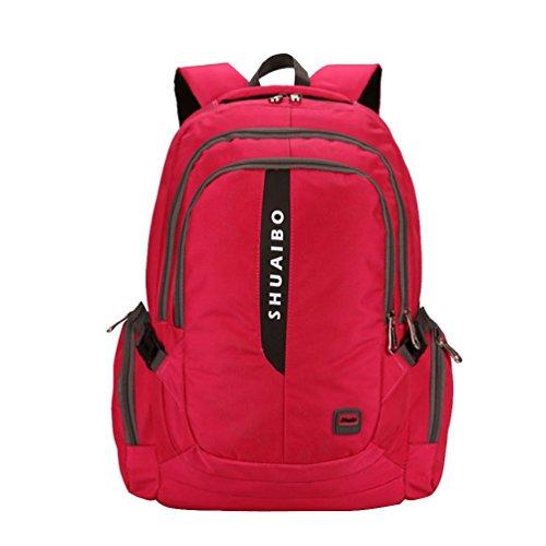 Baymate Negocios Mochila para Ordenador Portátiles y Netbooks de Colegio Laptop Backpack Pink