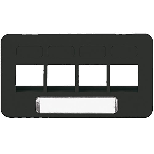 4 Port Faceplate Furniture - ICC Faceplate- Furniture- Tia- 4-Port- Black