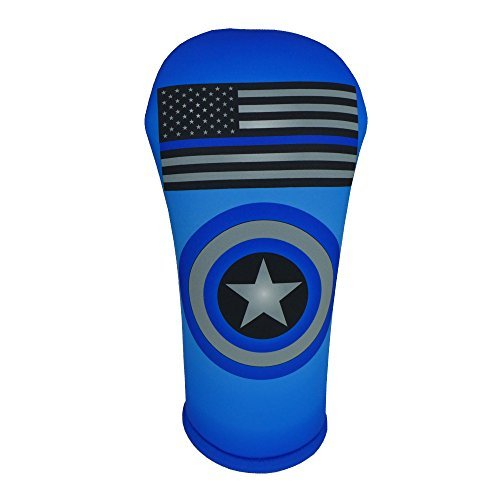 Thin Blue Line FlagゴルフクラブヘッドカバーコレクションMade in the USA BeeJos USA   B01N1NJY1O