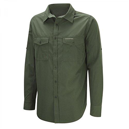 Craghoppers Men's Kiwi Long Sleeve Shirt  Cedar,  Medium from Craghoppers