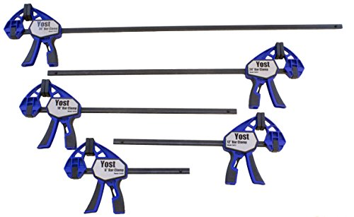 Yost Tools 1500010 Yost 15000 Series bar Clamp Set (Pack of 10) by Yost Tools