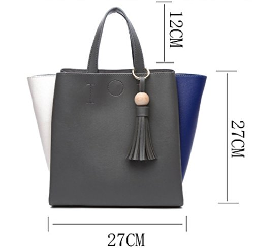 Black Bags PU Stitching Bags Vintage Handbag Handle Top Fashion Crossbody z8P1W