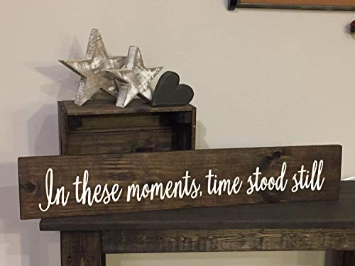 Rustic Pallet in These Moments Time Stood Still Sign Love Family Rustic Decor Farmhouse Style Fixer Upper Wooden Hand Painted Wood Signs with Quotes Home Plaque