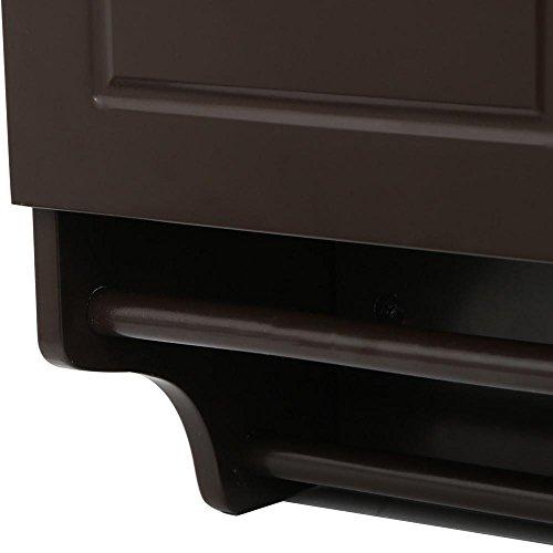 go2buy Wall Mounted Cabinet Kitchen/Bathroom Wooden Medicine Hanging Storage Organizer, Espresso by go2buy (Image #8)