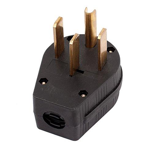 uxcell Industrial Grade NEMA 14-50p 50A 125V Straight Blade US Four Holes Plug
