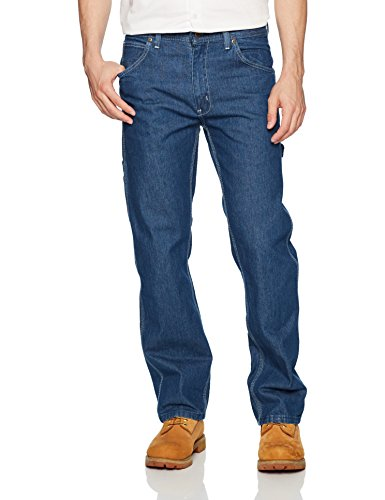 Mens Dungarees Denim (Key Apparel Men's Traditional Fit Garment Washed Indigo Denim Dungaree, Denim, 38x34)