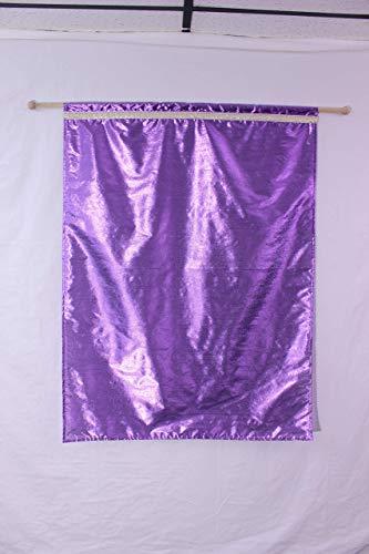 Medium Size Purple Flag on Stick, Free Spinning, Praise, Worship, Dance, Church, Banner