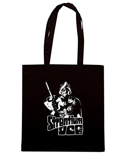 T-Shirtshock - Bolsa para la compra FUN0439 2000ADTShirt StrontiumDogBnW Black CU 12 Negro