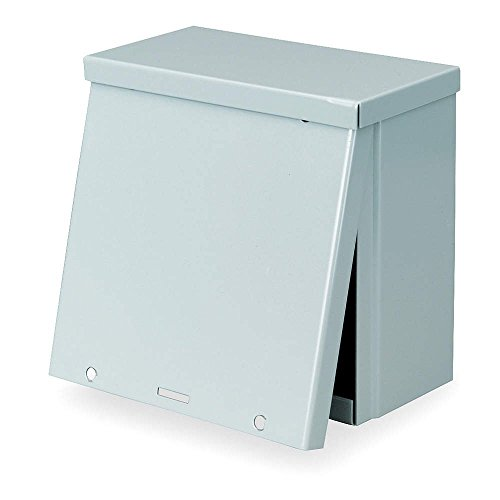 Wall Mount 12 Nema - Wiegmann RSC121208 RSC-Series NEMA 1/3R Wall-Mount Enclosure with Lift-Off Screw Cover and Knockouts, Carbon Steel, 12