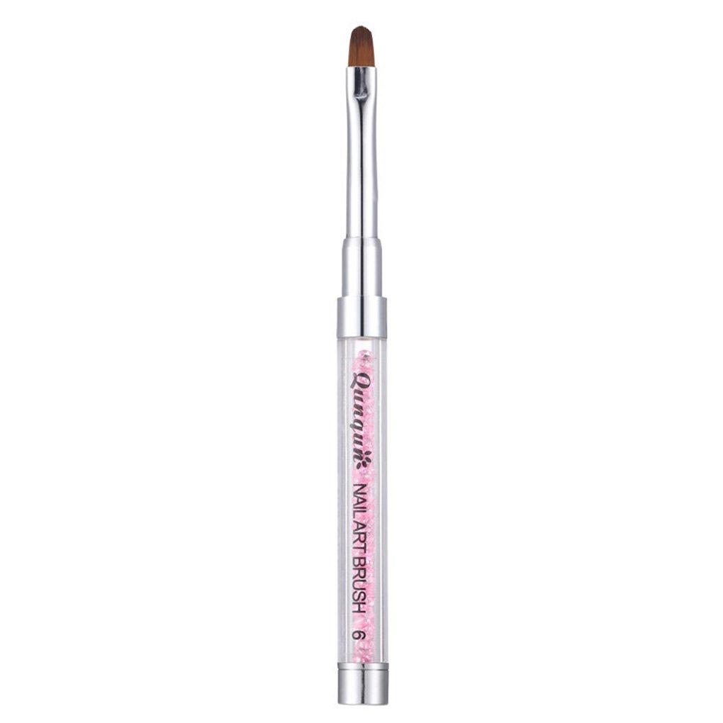 Arichtop HONGNUO Nail Art Brush Pen Acrylic Rhinestone Handle Brushes Uv Gel Round Nail Brush Manicure Salon Brush Nail Brush 6#