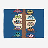 YOLIYANA Microfiber Throw Blanket Set/Perfect for Couch Sofa or Bed/59x49 inches/Kids Boys