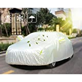 Upgraded 7 Layer Super Soft Car Cover with Cotton, Snow Sun UV Ray Protection for Your Car, Scratch Resistant Easy Cleaning, Fits 174'-187' [Anti-theft Lock Included]