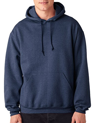 Hooded Vintage Sweatshirt - Jerzees Men's NuBlend Hooded Pullover Sweatshirt Vintage Heather Navy, XX-Large