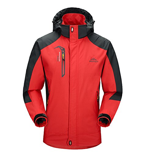 Diamond Candy men Sportswear Hooded Softshell Outdoor Raincoat Waterproof Jacket (Classic Raincoat Liner)