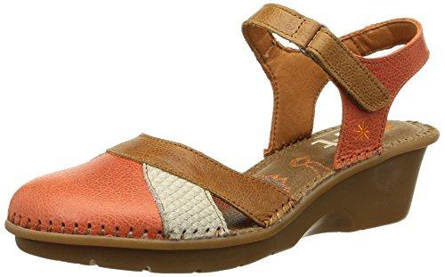 Art Venice, Women's Open Toe Sandals Multicoloured (Coral-caramel)