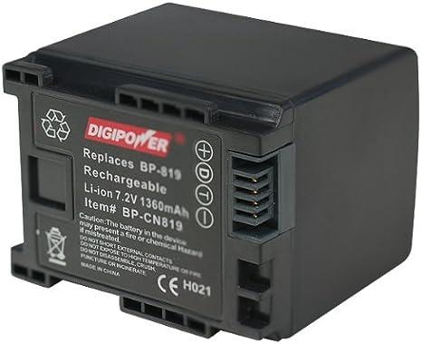 Amazon Com Digipower Bp Cn819 Digital Camcorder Battery Replacement For Canon Bp 819 Black Digital Camera Batteries Camera Photo