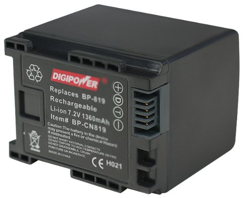 DigiPower BP-CN819 Digital Camcorder Battery Replacement for Canon BP-819 ()