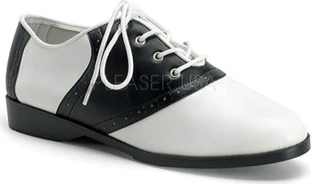 Funtasma By Pleaser Womens Halloween Sella Oxford Bianco E Nero