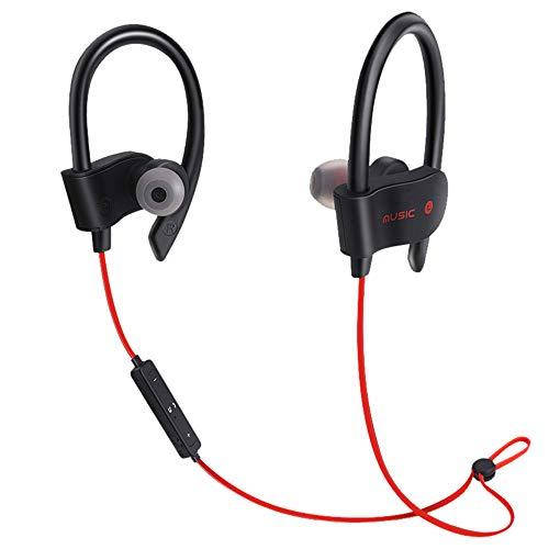 Earphones, Wireless Bluetooth Headset Headphones Sport Sweatproof Stereo Earbuds Earphone,Music Recording Equipment,Red,Clearance Sale