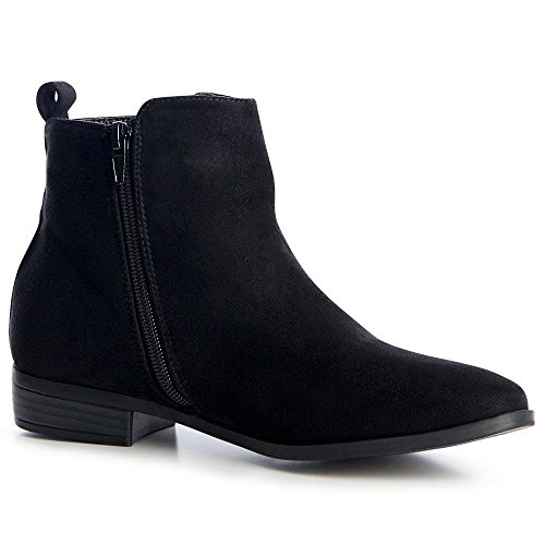 Chelsea Bottines Topschuhe24 Femmes Noir Boots qAxFz6