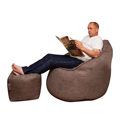 41IZeurlUsL - The-Giant-Pod-Set-Bean-Bag-Chair-Microfiber-Suede