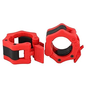 Q Sports Peso olímpico barra de abrazaderas de sujeción para pesas de la barra: 50